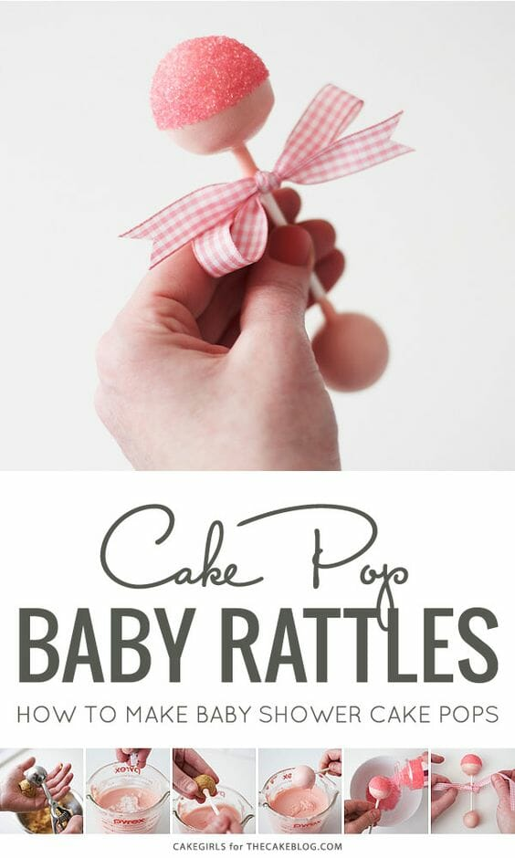 Pink Rattle Cake Pops