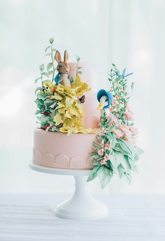 Bunny and Goose Cake
