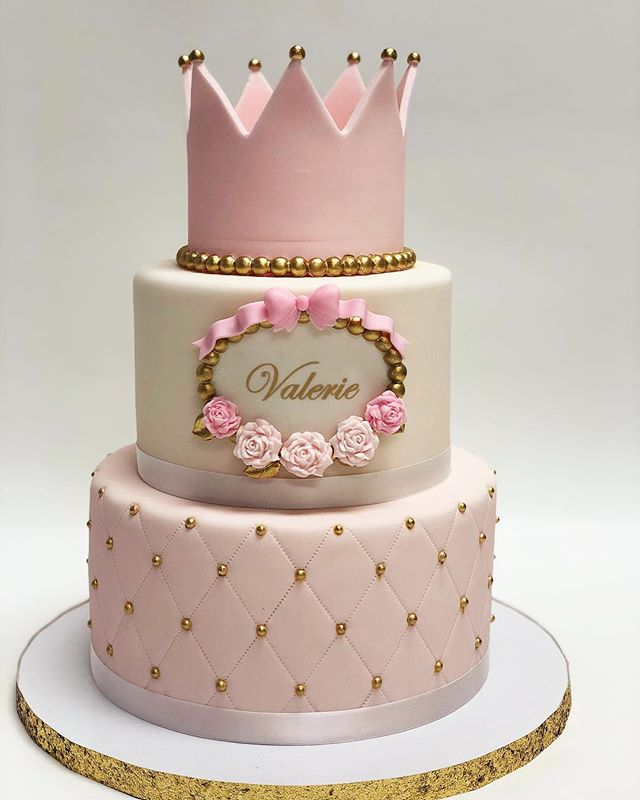 Two Tiers Cake With A Crown