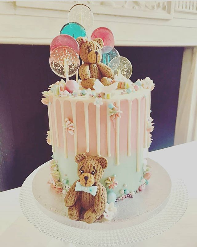 Cute Candy And Bear Cake