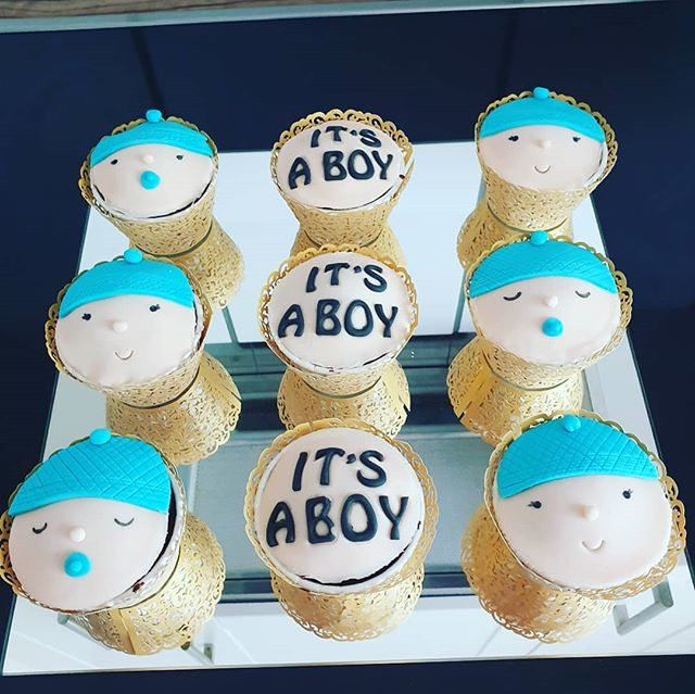 Bilguesta 34's It's a Boy Cupcakes